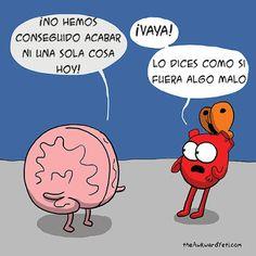 Heart and Brain - The Awkward Yeti Akward Yeti, The Awkward Yeti, Frases Humor, Memes Humor, Heart And Brain Comic, Funny Comics, Happy Comics, Funny Cartoons, Laugh Out Loud