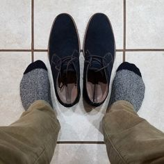 Suede chukkas are on my list of must have shoes for guys. What's on yours?
