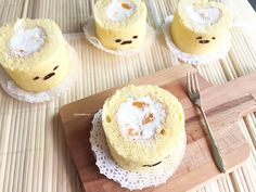 Gudetama mandarin orange swiss roll
