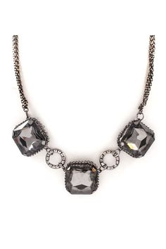 Arianna Necklace in Black Diamond Crystal