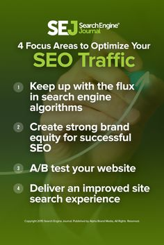 As you optimize your investment in SEO traffic this year, make sure to keep these four areas of focus top of mind. https://www.searchenginejournal.com/marketers-redirect-your-strategy-4-areas-of-focus-for-optimizing-your-seo-traffic/158536/