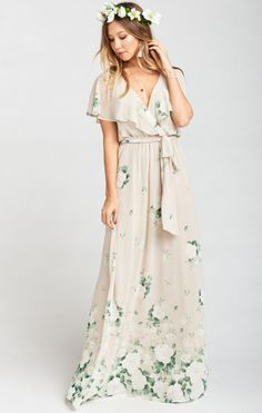So beautiful and they even have plus sizes! Audrey Maxi Dress ~ Bouquet Toss