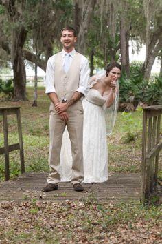 Shhhh :) #bride #groom #firstlook #wedding #outdoor #vintage #rustic