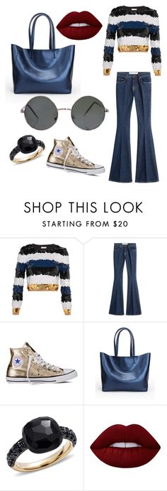 """""""Brillant Tuesday"""" by ardn-zbl-bsts-ldsma ❤ liked on Polyvore featuring Sonia Rykiel, dVb Victoria Beckham, Converse, Pomellato and Lime Crime"""