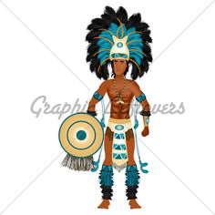 Aztec male warrior. Arm cuffs. Leg cuffs.
