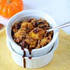 Chocolate-Pumpkin-Pecan Bread Pudding: A plate-licking autumn dessert...