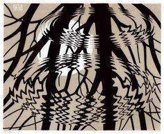 M. C. Escher, The Rippled Surface, 1950, linocut