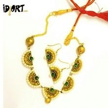 Handmade Is Beautiful.  Terracotta Necklace Set  only on www.idiort.com