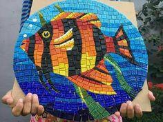 Mosaic Artwork, Glass Artwork, Mosaic Wall, Mosaic Tiles, Mosaic Crafts, Mosaic Projects, Free Mosaic Patterns, Mosaic Rocks, Landscape Art Quilts