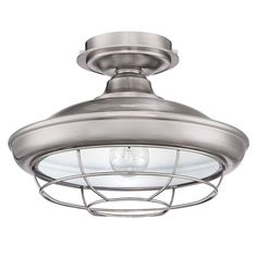 Free 2-day shipping. Buy Designers Impressions Charleston Satin Nickel Semi-Flush Mount Ceiling Light Fixture at Walmart.com