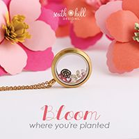 Spring Locket - from South Hill Designs (Karen Oleary) Bloom where you are planted this season! Our beautiful and inspiring Easter Charm Pack and Locket are the perfect accessories to celebrate spring. South Hill Designs, Bloom Where Youre Planted, Locket Charms, Lockets, Pink Bubbles, Vintage Type, Spring Blooms, Bar Necklace, Vintage Flowers