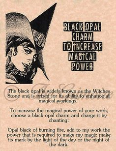 Black Opal Power, Book of Shadows Spell Pages, Wicca, Witchcraft, Pagan Wiccan Witch, Magick Spells, Wicca Witchcraft, Witch Powers, Beaded Beads, Baby Witch, Eclectic Witch, Witch Spell, White Magic