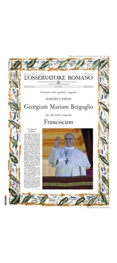 L'Osservatore Romano, Pope Francis at 100 (days)