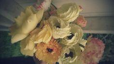 Creamy blush toned ranunculus
