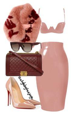 """Untitled #2518"" by stylebyteajaye ❤ liked on Polyvore featuring Chanel, Fendi and Christian Louboutin"