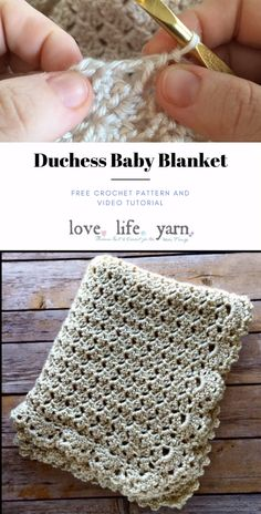 This is the most elegant baby blanket ever! The video tutorial shows you step by step how to crochet this blanket and it is a FREE crochet pattern, too! I love making this for baby showers ♥ patterns baby blankets How to Crochet the Duchess Baby Blanket Crochet Baby Blanket Free Pattern, Crochet Stitches Patterns, Knitting Patterns, Baby Blankets To Crochet, Crochet Boarders, Crochet Blanket Edging, Free Baby Blanket Patterns, Crotchet Patterns, Blanket Stitch