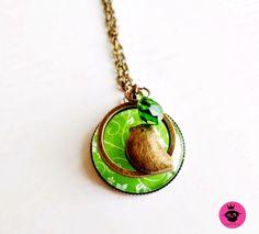 Vintage Kette mit Glasanhänger,Vogel,facettiertem Glastropfen in grün. Jewlery, Pendant Necklace, Princess, Vintage, Fashion, Lockets, Birds, Necklaces, Moda