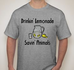 Cups For Pups Lemonade Stand T-Shirt.  My 11 year old son designed this t-shirt to sell along with lemonade at his lemonade stand to raise money for an animal rescue.  You can get one for only $15.  I'm one proud mom! :)