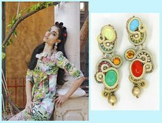 Flower power goes chic and sweet with Dori's Candy earrings - as seen in Laisha magazine
