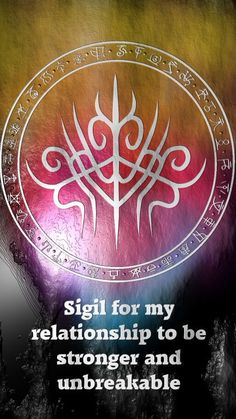 Sigil for my relationship to be stronger and unbreakableRequested by Anonymous Here you go my friend. Thank you for the request, I appreciate it. Sigil requests are open. For more of my sigils go...