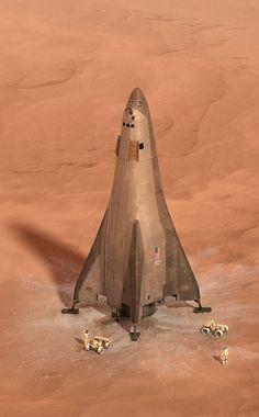 Lockheed Martin Mars Base Cape lander, 2017