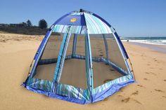 Striped Summer Habitat 10 x 10 Screenhouse - Sun Shelter - Beach Tent Tent Camping, Camping Gear, Outdoor Camping, Outdoor Gear, Childrens Play Tents, Outdoor Screens, Screen House, Baseball Gear, Star Wars