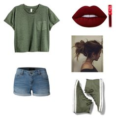 """""""Would you wear:School"""" by asian101 on Polyvore featuring Keds, LE3NO and Lime Crime"""