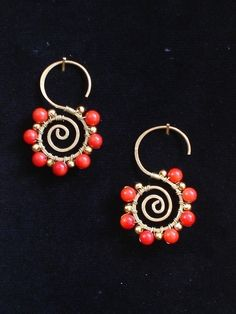 Red Coral little snails. $12.00, via Etsy.