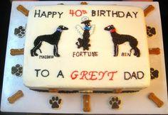 Greyhound Birthday Cake