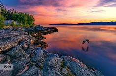 Flying in the nidnight sunset in  Ekne Norway by Aziz Nasuti on 500px