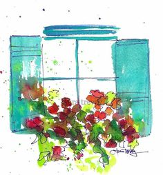 Mother's Day gift ideas | Window Box Watercolor Print