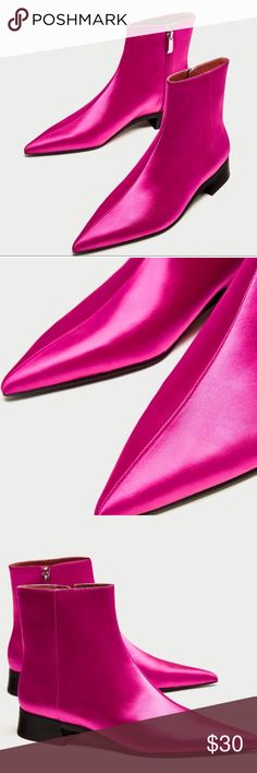 4b6d710a7 Zara booties size 7 Hot pink shiny Zara booties. So cute but I m