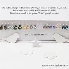 Swarovski Ohrringe mit 925 Sterling Silber Schmuck Online Shop, Amethyst, Sterling Silver Jewelry