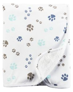 Baby Boy Paw Print Plush Blanket   Carters.com