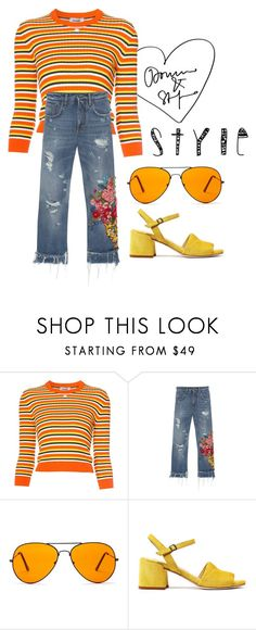 """""""Untitled #252"""" by alejomarianne on Polyvore featuring Courrèges, Dolce&Gabbana and Sunny Rebel"""