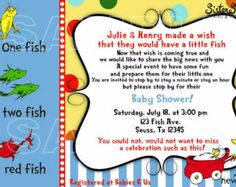 Printed Dr. Seuss Baby Shower Invitations