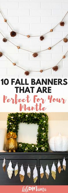Banners, garland or bunting- no matter what you call it, your home needs fall decor! Check out these easy DIY projects.
