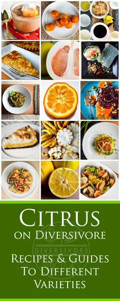Citrus on Diversivore - Guides to finding, choosing, and using citrus fruits (including rare and unique varieties), as well as an ever-growing collection of recipes. Fruit Recipes, Brunch Recipes, Lemon Recipes, Savoury Dishes, Vegan Dishes, Rhubarb Apple Crisp, Beef Tataki, Grilled Halloumi, Salad Rolls
