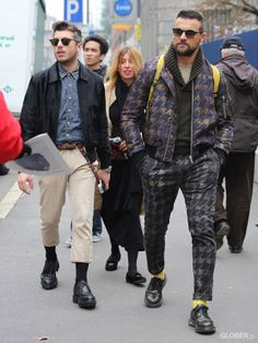 GLOBER | 千鳥格子 Brogue Shoe, Brogues, Bomber Jacket, Punk, Mens Fashion, Jackets, Style, Men Styles, Moda Masculina