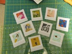 Polaroid Quilt blocks! I love these! I have lots of design fabrics that would make a dreamy polaroid quilt! This is the instruction blog for it.