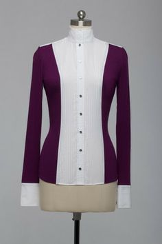 Le Fash long sleeve show shirt Navy and black... purple is gorgeous though.