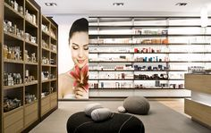 Maria Schutz pharmacy by steininger designers 03 PHARMACIES! Design Blog, Store Design, Health And Beauty Shop, Cool Retail, Herbal Shop, Retail Architecture, Excellence Award, Garden Nursery, Commercial Interiors