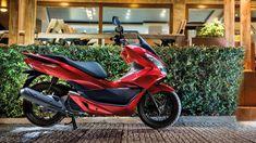 Honda-Scooter-PCX125-Localização-Vermelho Pérola Siena-Vista estática