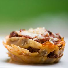Lasagna Cupcakes @keyingredient #cheese