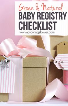 This natural baby registry checklist includes the best green baby must-haves, tips to create your green baby registry, plus a free printable checklist so you won't forget anything, even with pregnancy brain!