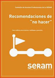 """Acceso gratuito. Recomendaciones de """"no hacer"""" SERAM, Sociedad Española de Radiología Médica Convenience Store, Convinience Store"""