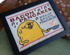 DIY Jake Bacon Pancakes digital cross stitch pattern