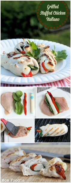 Grilled Stuffed Chicken Italiano Recipe... yes, you can grill a cheese stuffed chicken breast... if you use the right cheese.
