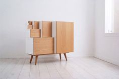 storage furniture based on paper sizes; can be rearranged! i could store my art in this.