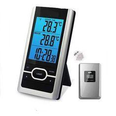 Rosenborg model 66756 trådløst termometer med temperaturmåling ude og inde. Køb trådløst termometer billigt her